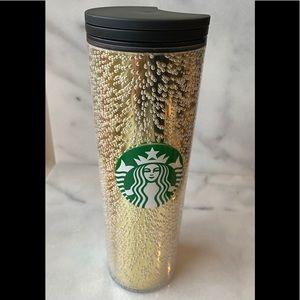 Starbucks 2020 Gold Bubbles Tumbler Cup